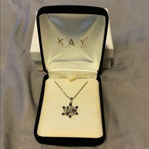 Kay Jewelers Snowflake Necklace